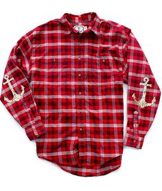 Flannel Shirt. Sequin Flannel Shirt. Anchor by ICaughtTheSun