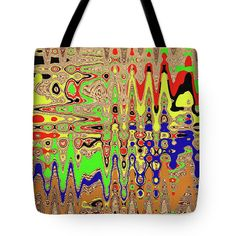 Drawing #1859 Abstract Tote Bag featuring the digital art Drawing #1859 Abstract by Tom Janca