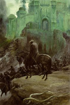 The Witch-King at Minas Morgul; art by Alan Lee | From the book Tolkien's Ring by David Day.