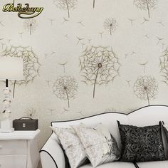 beibehang Pastoral Dandelion Wallpaper Roll Vertical 3D mural wallpaper for Living room Bedroom mural wall paper papel de parede