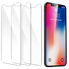 iPhone X Screen Protector, ESR [Force Resistant Up to 22 Pounds] iPhone X Tempered Glass, Case Friendly for iPhone X iPhone 10 2017 released version Best Screen Protector, Cell Phone Screen Protector, Tempered Glass Screen Protector, Iphone Deals, Iphone 10, Iphone 8 Plus, Iphone Hacks, Face Id, Gold Box