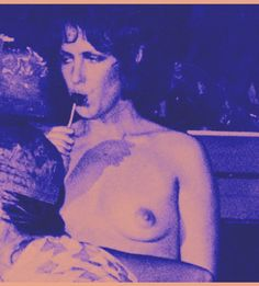 ♡♥Grace Slick relaxes topless♥♡