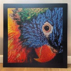 Parrot photopearls/Nabbi beads by Tina Gaardmand (60x60cm)