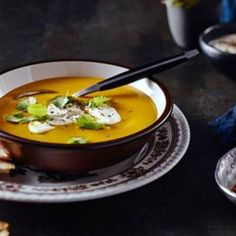 This Simple Curried Pumpkin Soup is an autumn favourite.