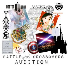 """Battle of the Crossovers Audition"" by laniocracy ❤ liked on Polyvore featuring art"