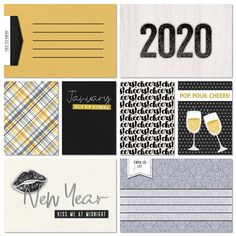Cheers to a New Decade pocket cards freebie from Gone Digital Design - New Year's digital scrapbooking journal cards Digital Scrapbooking Freebies, Pocket Scrapbooking, Scrapbook Journal, Journal Cards, Cheers, Digital Project Life, Memory Album, Pocket Cards, Pop