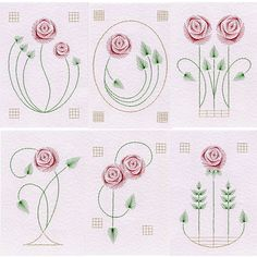 Value Pack No. 32: Rose at Stitching Cards - ePatterns for paper embroidery