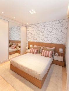 Modern Style Bedroom Design Ideas and Pictures. Bedroom Designs by some of the best interior designers in the world, conceptually and flawlessly thought and executed. Indian Bedroom Design, Room Design Bedroom, Modern Bedroom Design, Small Room Bedroom, Small Rooms, Interior Design Living Room, Bedroom Decor, Bedroom Designs, Interior Simple