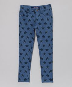 Take a look at this Star Wash Spangle Banner Pants - Toddler & Girls on zulily today!