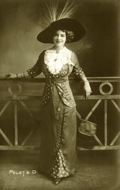 Vintage mids 1910s lady fashion 001 by MementoMori-stock.deviantart.com on @deviantART