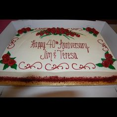 round red layer cake for a anniversary | Red Velvet Sheet Cake - Anniversary Cake