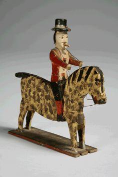 Sculpture of a Man on a Horse | Folk Art