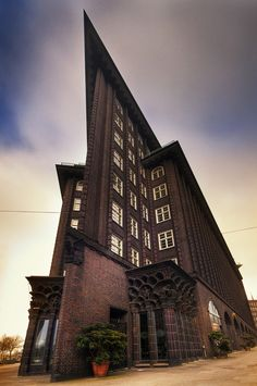 The Chilehaus is a ten-story office building in Hamburg, Germany, a prime example of brick architecture of the 1920s.