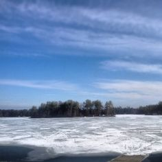 Ice on Lake Muskoka is getting thin! Almost boating season!