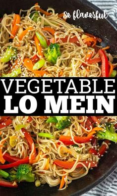 This flavorful vegetable lo mein is so easy to prepare healthy and the bonus is it vegan and gluten-free. Made with gluten-free ramen noodles stir-fried with carrots spinach pepper and a delicious lo mein sauce. Gluten Free Ramen, Gluten Free Noodles, Best Gluten Free Recipes, Vegetable Recipes, Vegetarian Recipes, Cooking Recipes, Healthy Recipes, Vegetarian Dinners, Vegan Chow Mein