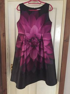 This beautiful large floral print dress is a dark navy, pinks and purple, was bought for my son's confirmation and only worn that one day. It's perfect for any occasion. Navy Pink, Dark Navy, Purple, Dress Hire, Smart Girls, Occasion Wear, Confirmation, Size 14, Sons