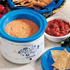 Crockpot bean and cheese dip.  It also has cream cheese and cream cheese makes everything better :)
