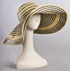 Stripe Wide Brim Hat-keep your skin healthy and burnt-free!