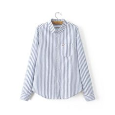 New women blouses long sleeve shirt women blusas blouse stripe Seagull Embroidery casual women shirt top