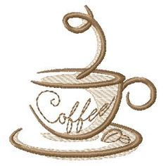 Coffee Coaster Set - Free Instant Machine Embroidery Designs