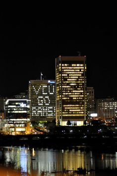 VCU Go rams go! (Dominion VA Power building during Final Four basketball tournament 2011 - Richmond lost her mind - and it was amazingggggg)