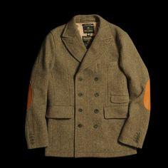 Amazing Nigel Cabourn 1940s Harris Tweed Peak Jacket http://www.unionmadegoods.com/NIGEL_CABOURN_1940s_DB_Peak_Jacket_in_Army__2711.html