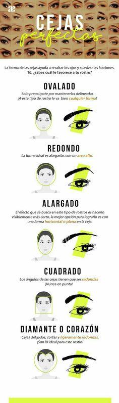 Tipo de cejas que le quedan a tu rostro