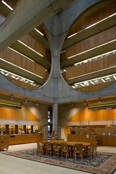 Library at Phillips Exeter Academy, Exeter, NH. 1974. Louis Kahn.