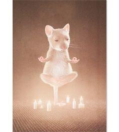 Postkarte Meditation | Zur kleinen Maus cool mice postcard #mäuse #postkarte #mice #postcard