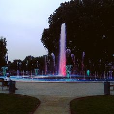 The music fountain on Margaret Island, Budapest.
