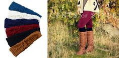 $7.99 Cable knit footless boot socks - FREE SHIPPING! Sassy Steals