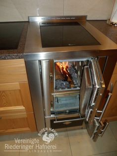 Wood Burning Cook Stove, Wood Stove Cooking, Kitchen Stove, Kitchen Appliances, Dream Home Design, House Design, Compact Furniture, Brick Bbq, Scandinavian Style Home