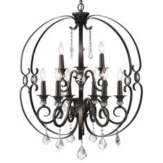 Enjoy the luminous light this chandelier provides as well as the beauty and elegance that it brings for your home. It is about 11 inches wide and 17 inches high. Kennedy 3-light Black-finish Chandelier features a stunningly elegant and beautiful design that will surely capture anyone's eyes across the room. With its design and finish, it will look perfect in your kitchen, living room, dining room, entry way, hall way or bed room.