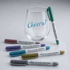Wine Glass Writer Metallic Pens (6 Pack) at Wine Enthusiast - $19.95
