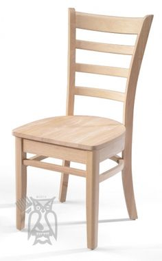 Solid Parawood Emily Side Chair in Unfinished