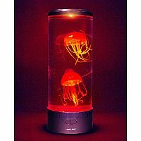 Just add water and watch different undulating jellyfish float in this tranquil luminary, lit with LED lights. The Electric Jellyfish Mood Light is perfect as a bedroom nightlight or living room conversation piece.