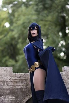 Wow. This is the best Raven cosplay I have ever seen. She's more of the comic book style but this looks so good!