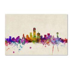 Michael Tompsett 'Dallas, Texas' Canvas Art | Overstock.com Shopping - Top Rated Trademark Fine Art Canvas