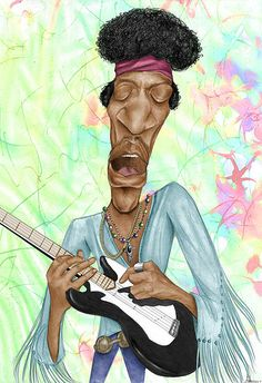 Jimi Hendrix (Caricature) Dunway Enterprises - http://www.learn-to-draw.org/caricatures_clb.html?hop=dunway
