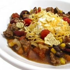 Skinny Crock Pot Taco Stew (or stove top)