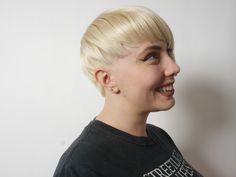 Hair by Kai!  #blondehair #pixie #shorthair #blondepixie #womenshaircuts #redscarlet #redscarletsalon