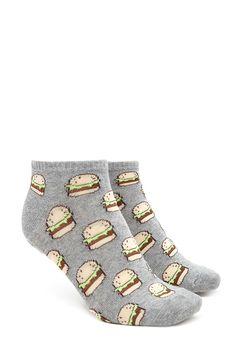 Burger Ankle Socks | Forever 21 - 2000223554