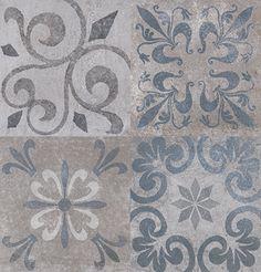 Antique Blue Patchwork