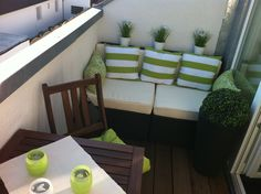 Terrasse / Balkon 'Balkon' House With Balcony, Small Balcony Decor, Outdoor Sofa, Outdoor Furniture Sets, Small Appartment, Apartment Balconies, Modern House Design, Lounge, Small Spaces