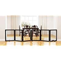 Pawland 144 Inch Extra Wide 30 Inches Tall Dog Gate With Door Walk