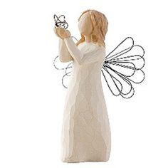 Willow tree angels ♥ holding a butterfly. love.