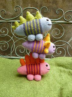 Ravelry: Stripe-o-saurs, Amigurumi Dinosaur Pattern pattern by Moji-Moji Design