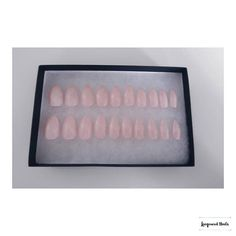 Rose Quartz Nail Set 20 nails fake nails stiletto nails