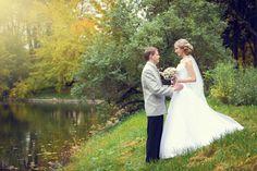 fall wedding bride sun russia