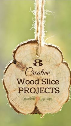 8 Creative Wood Slice Projects | there are so many uses for these rustic yet beautiful cross-sections of wood - this list has great ideas for what to make with them, plus tips for cutting wood slices and finishing them. #sponsored